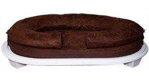 KEPP Charlie Collection in Cocoa Suede with white wood frame
