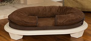 KEPP Charlie Collection in Cocoa Suede with white frame